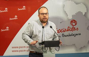Rubén García, portavoz del Grupo Socialista en la Diputación de Guadalajara.