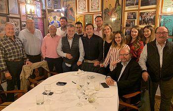 El capítulo de Albacete de la Fundación Toro de Lidia durante la pasada reunión.