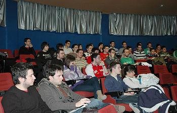 Algunos de los alumnos del último curso de Informática particìpantes en la Semana del Empleo