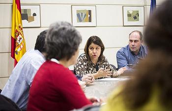 El Senado acoge un encuentro del Círculo Cannábico  con senadores y diputados de Unidos Podemos.
