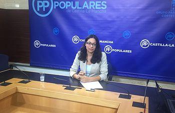 Claudia Alonso, en rueda de prensa.