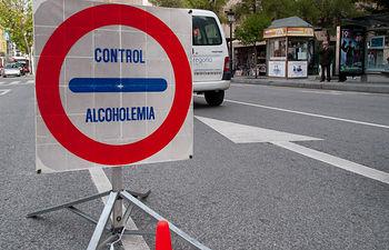 Control de Alcoholemia. Foto de Archivo.