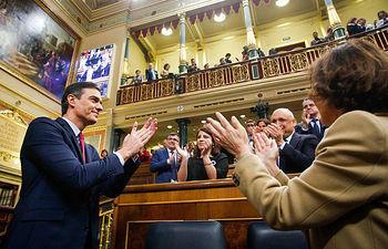 El candidato a la Presidencia del Gobierno, Pedro Sánchez, en la tercera jornada de la Sesión de Investidura