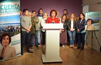 Presentación de la campaña '#SalvemosCuenca'  por parte de la confluencia Podemos-Equo (Cuenca, En Marcha!)