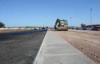 Obras en el Circuito de velocidad.