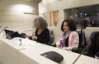 Virginia Felipe de UNIDOS PODEMOS insta al Gobierno a invertir en la red ferroviaria de Castilla-La Mancha. Foto: Irene Lingua.