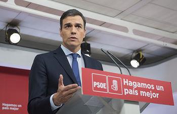 Pedro Sánchez, secretario general PSOE.