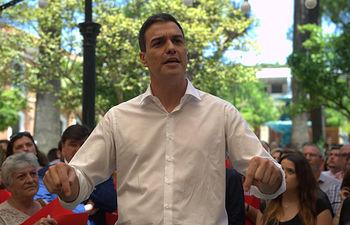 Pedro Sánchez en Huelva