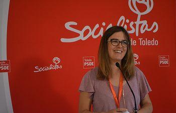 Esther Padilla, vicesecretaria y portavoz del PSOE de la provincia de Toledo.