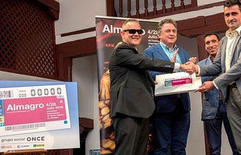 Presentación cupón de la ONCE con motivo del Festival Internacional del Teatro Clásico de Almagro.