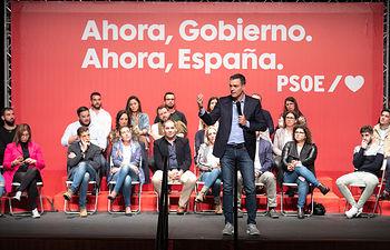 Pedro Sánchez en Huelva.  Foto: Eva Ercolanese.