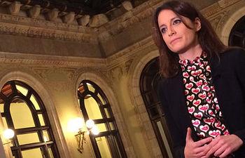 """La vicesecretaria de Estudios y Programas del PP, Andrea Levy, es entrevistada en """"Las Mañanas"""" de Cuatro."""