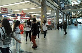 Campaña de recogida de alimentos y productos de higiene personal de Cáritas de Toledo.