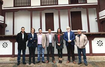 Visita de varios responsables socialistas a la localidad de Almagro