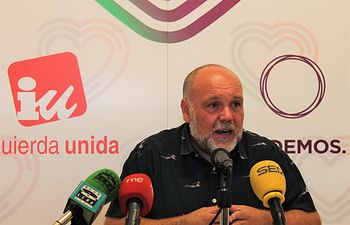 José María Fernández, portavoz de Izquierda Unida-Podemos de Toledo.