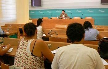 José Gutiérrez durante la Rueda de Prensa