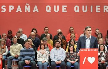 Peddro Sánchez en Alcalá la Real (Jaén).