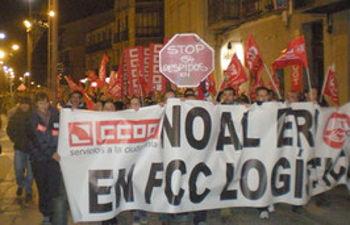 Manifestación del pasado 10 de diciembre contra el ERE en FCC