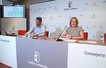Toledo, 26 de junio de 2019.- La directora general de Atención a la Dependencia en funciones, Ana Saavedra, informa en rueda de prensa del balance de los datos de Dependencia en Castilla-La Mancha, en la Consejería de Bienestar Social. (Foto: Álvaro Ruiz // JCCM)