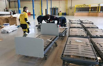 Globalcaja ha donado 40 camas .