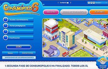 """Imagen web del concurso """"Consumopolis"""", en su VI edición."""