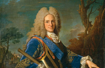 Retrato de Felipe V, obra de 1739 del pintor francés Louis Michel Vanloo, ubicado en el Museo del Prado de Madrid.