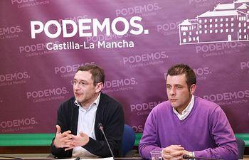 Diego Gallardo, (derecha) en una imagen de archivo. Foto: PODEMOS.