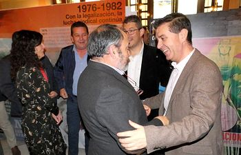 Exposición 130 años UGT en la Diputación de Albacete.