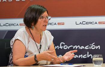 Victoria Delicado, portavoz del Grupo Municipal Ganemos AB del Ayuntamiento de Albacete.