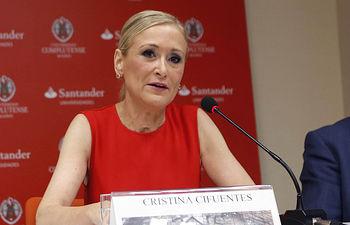 Cristina Cifuentes, presidenta de la Comunidad de Madrid. Foto de archivo.