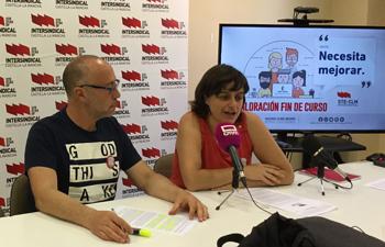 Carlos González y Sara Merino (STE-CLM).