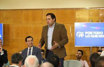 Paco Núñez en acto con afiliados y simpatizantes, en Ciudad Real.