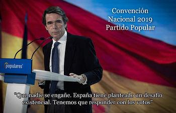 José María Aznar en la Convención Nacional del PP. 19-01-19