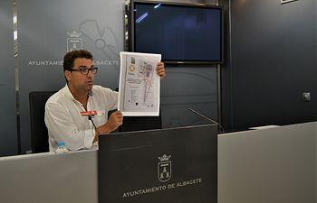 Modesto Belinchón, portavoz municipal socialista en el Ayuntamiento de Albacete.