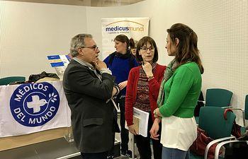 Rosa González de la Aleja asiste a la presentación de la memoria de Medicus Mundi y Médicos del Mundo