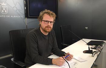 El viceportavoz de Ganemos, Álvaro Peñarrubia.