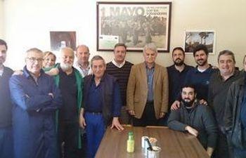 Jose Luis Gil con la plantilla de ICSA
