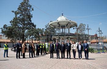 Mariano Rajoy durante su visita a Albacete a las obras del Recinto Ferial de Albacete