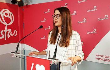 Cristina López, portavoz de la ejecutiva socialista de la agrupación de Ciudad Real.