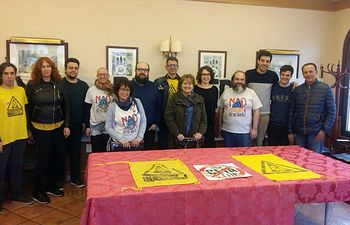 Rueda de prensa celebrada  en Villarrobledo, donde Teresa Arévalo, diputada de Unidos Podemos en el Congreso, ofreció junto a la Plataforma del Campo de Montiel y La Mancha contra la fractura hidráulica.