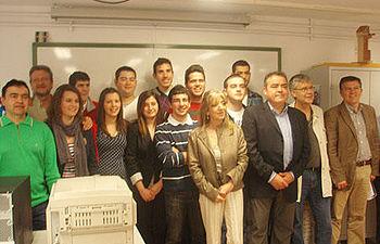Valentín Castellanos, entregó los diplomas del curso básico de prevención de riesgos laborales