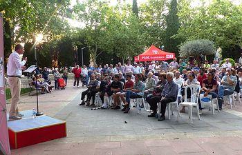 Alberto Rojo, acto público en Manantiales.