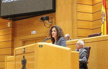 Silvia Franco, Senadora del Partido Popular, durante su intervención