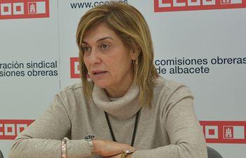Carmen Juste, secretaria general de CCOO en Albacete.
