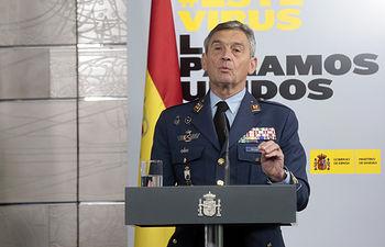 Miguel Ángel Villarroya,jefe del Estado Mayor de la Defensa. Foto: Europa Press 2020