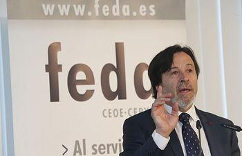 Artemio Pérez, durante su intervención en la 41 Asamblea General de FEDA, celebrada en 2018.