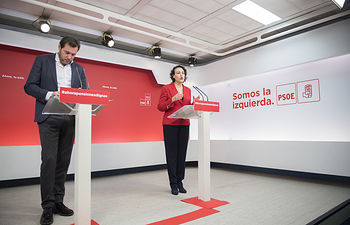 Rueda de prensa de Óscar Puente y Magdalena Valerio.