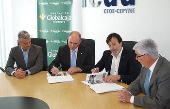 Acuerdo colaboración Fundación Globalcaja-Albacete-FEDA