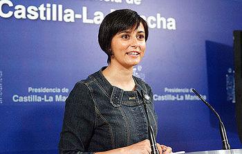 La portavoz del Gobierno de Castilla-La Mancha, Isabel Rodríguez, informa sobre los acuerdos aprobados en la reunión de ayer del Consejo de Gobierno.