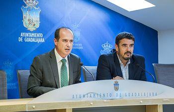 Alberto Rojo y Rafael Esteban, alcaldes de Guadalajara y Marchamalo.